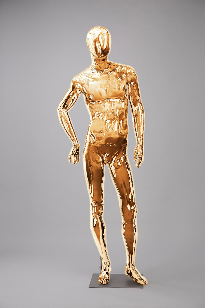 """Мужские манекены для одежды """"Блестящие-Золото 4"""""""