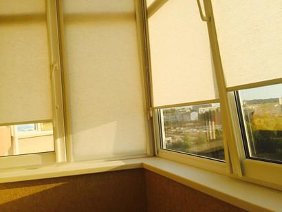 Внутрирамные рулонные шторы