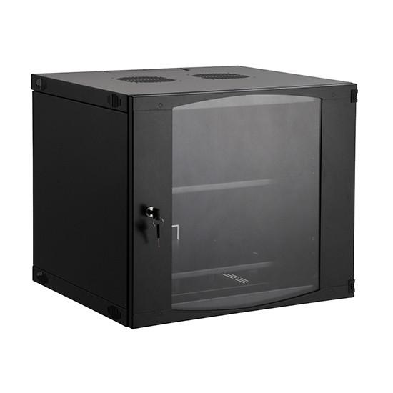 Шкаф настенный, SHIP, EW5406.100, EW серия, 19'' 6U, 540*450*327 мм, Ш*Г*В, IP20, Чёрный