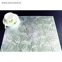 "Клеенка для стола ""Table Mat"" Metallic, серебро, 80 см, рулон 20 п.м., TD 192-A001"