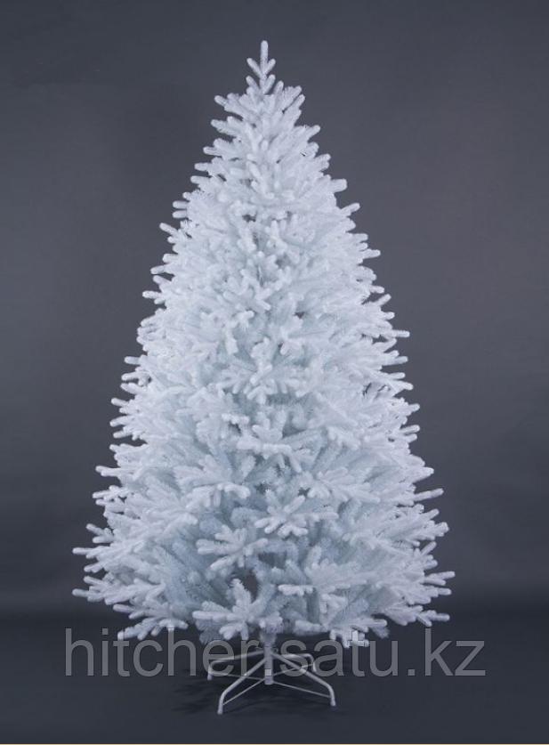 """Густая, красивая, широкая новогодняя искусственная елка""""Вьюга"""" 180 см выполнена с использованием белоснежных литых веточек."""