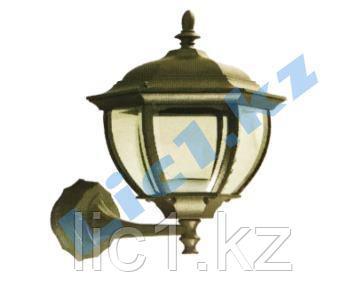Настенный садово - парковый светильник черное золото