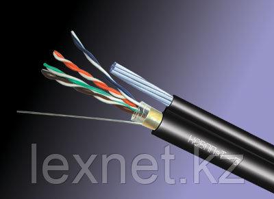 Кабель FTP 5e PE, для внешней прокладки с тросом 4*2*0,52