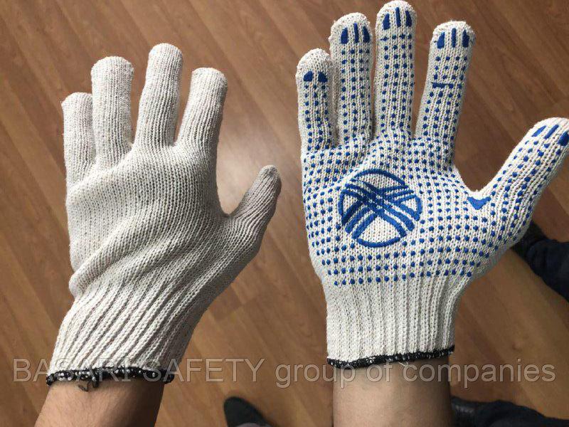 Перчатки хб с пвх точками