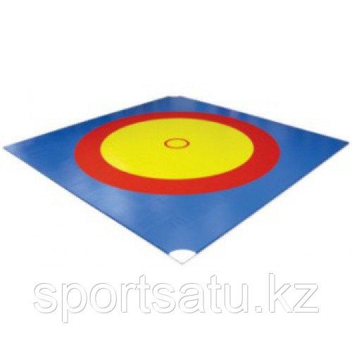 Ковер борцовский трехцветный 12 х 12 м + маты 4см НПЭ
