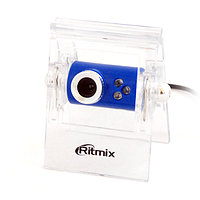 Веб Камера Ritmix RVC-005M 300K CMOS sensor, 30 fps, USB, mic, LED light, clip-on
