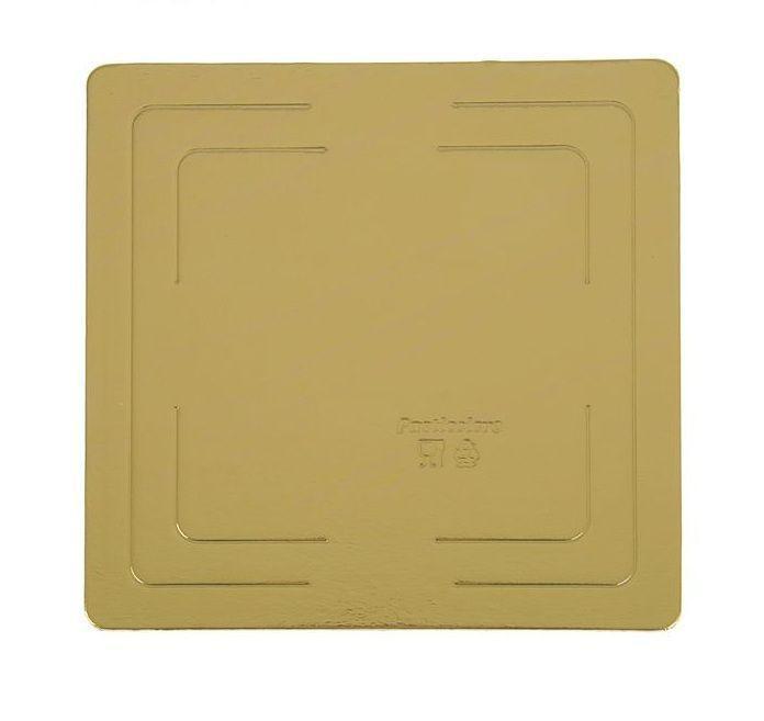 Pasticciere. Подложка прямоугольная усиленная золото 300х300 мм ( Толщина 2,5 мм )* 10 шт/упак