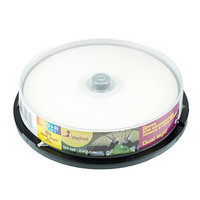 Диск DVD+R SmartTrack Dual Layer Inkjet, 8x, 8,5 Гб, Cake Box, 10 шт