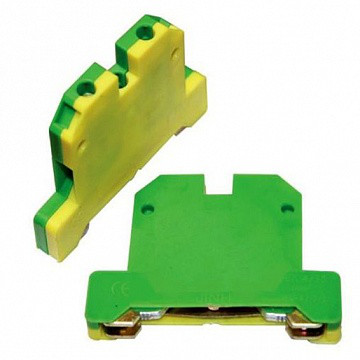 Клемма заземления на DIN-рейку EK-2.5 (КЗД-6ЖЗ) 6 мм² (желто-зеленая)