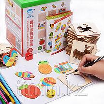 Детский набор для творчества — Трафареты (52 деталей), фото 2