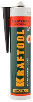 """Герметик KRAFTOOL KRAFTFLEX FR150 силикатный огнеупорный """"+1500 С"""", жаростойкий, черный, 300 мл"""