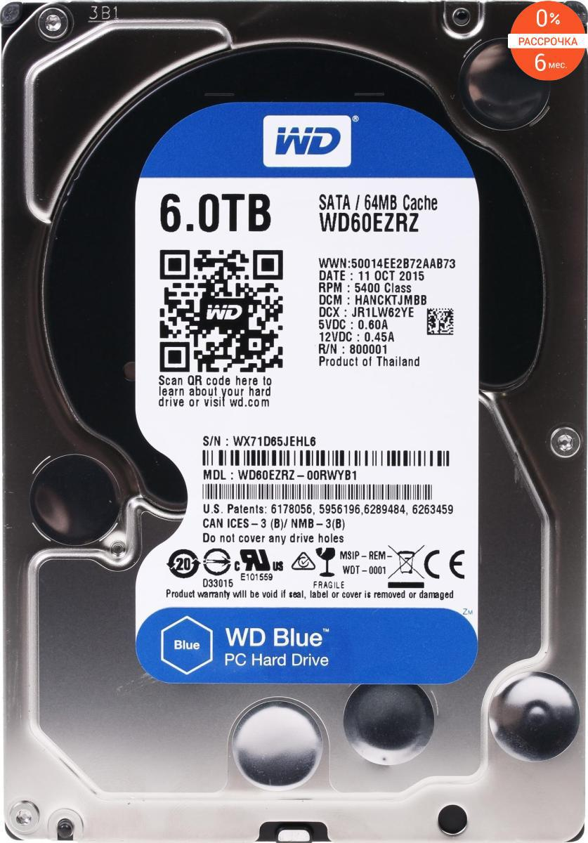 Жесткий диск Western Digital Caviar Blue 6000 GB WD60EZRZ