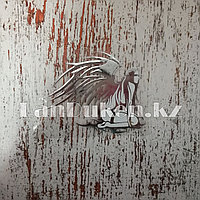 Наклейка на автомобиль ангел серебряная
