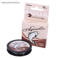 Леска плетёная Aqua Aqualon Brown, 15 м, 0,10 мм