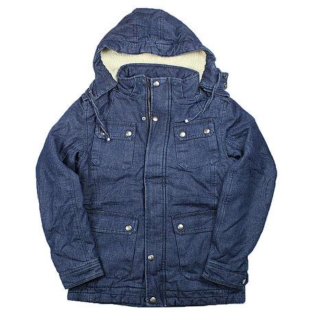 Зимние куртка Джинсовая, фото 2