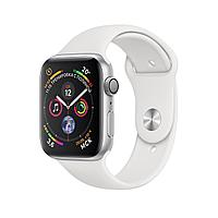 Apple Watch 44mm Series 4 Silver Aluminum Case with White Sport Band