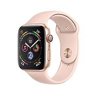 Apple Watch 44mm Series 4 Gold Aluminum Case with Pink Sand Sport Band, фото 1