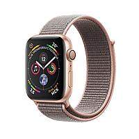 Apple Watch 40mm Series 4 Gold Aluminum Case with Pink Sand Sport Loop, фото 1