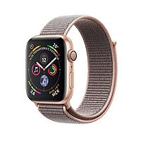 Apple Watch 44mm Series 4 Gold Aluminum Case with Pink Sand Sport Loop, фото 1