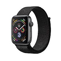 Apple Watch 44mm Series 4 Space Gray Aluminum Case with Black Sport Loop, фото 1