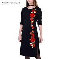 Платье женское 161118-9842-5 чёрный, р-р 44