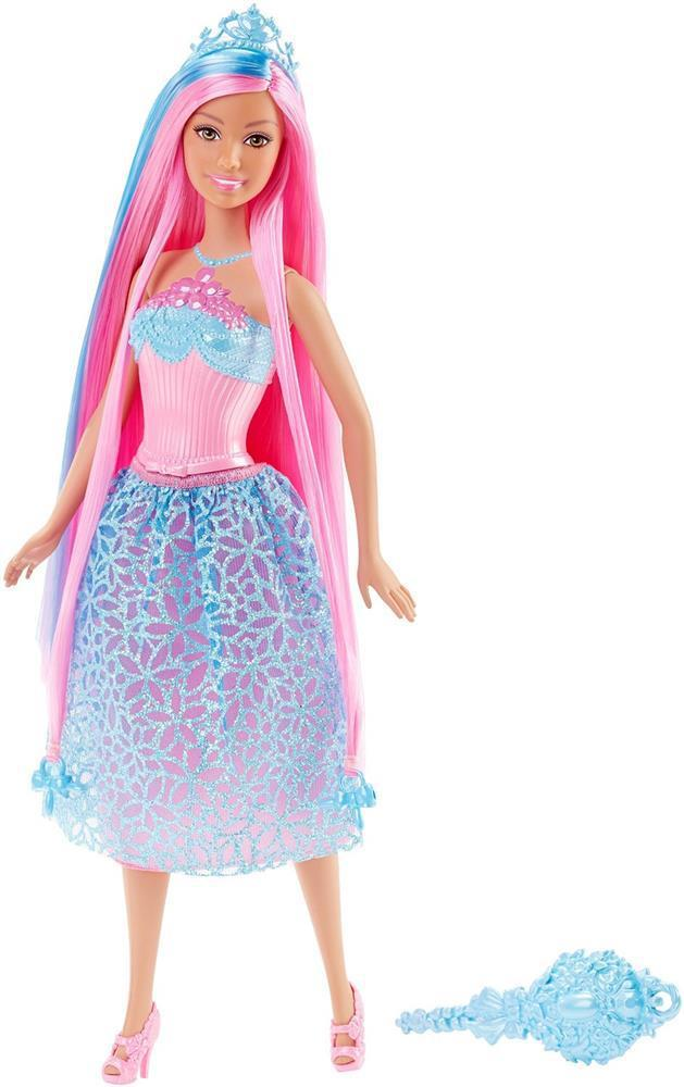 Barbie Endless Hair Kingdom Princess Doll with Pink Hair оригинал barbie + подарок