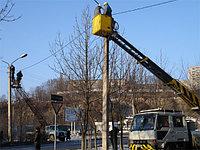Монтаж уличного освещения, монтаж фонарей, монтаж светильников, монтаж опор уличного освещения, фото 3