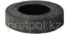 Изолента хлопчатобумажная, ЗУБР 1230-120, армированная х/б тканью, 90 г, черная
