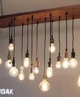 Подсветка помещений лампами Эдисона, оформление лампами Эдисона, оформление кафе, ресторанов, потолков, фото 7