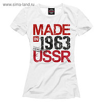 Футболка женская Made in USSR 1963, размер 2XS DHT-454010