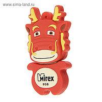 "Подарочная USB-флешка 8 Gb Mirex DRAGON RED, ""красный дракон"""