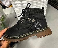 Ботинки (тимбы) черные унисекс в стиле Timberland размеры 21-25