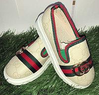 Туфли для девочки с пряжками Gucci размеры 21-26