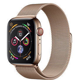 Apple Watch Series 4 44mm Gold Case with Gold Milanese Loop