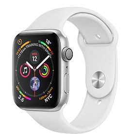 Apple Watch Series 4 44mm Silver Aluminium Case with White Sport Band