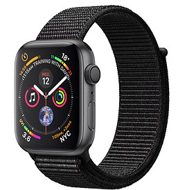 Apple Watch Series 4 40mm Space Grey Aluminium Case with Black Sport Loop