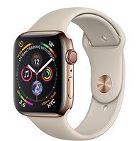 Apple Watch Series 4 44mm Gold Stainless Steel Case with White Stone Sport Band