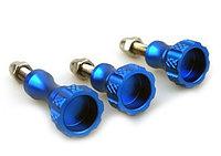 Комплект алюминиевых болтов синего цвета (2 коротких, 1 длинный)
