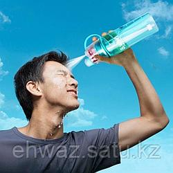 Спортивная бутылка для воды с распылителем