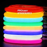 Cветодиодный неон круглый 220В 2835(120LED/м) IP67 гибкий неон. холодный неон, фото 5