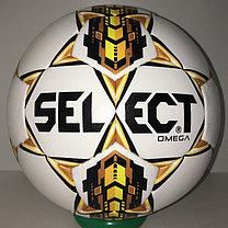 Футбольный мяч Select Omega кожаный (размер 4) сшитый, фото 2