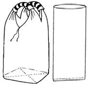 Мягкий контейнер 75х75х125 с вкладышем, 2 стропы