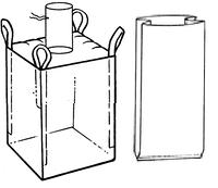 Мягкий контейнер 100х100х100 с вкладышем, 4 стропы