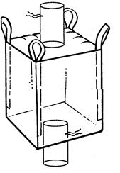 Мягкий контейнер 110х110х110 без вкладыша, 4 стропы