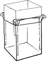 Мягкий контейнер 75х75х110 без вкладыша, 4 стропы