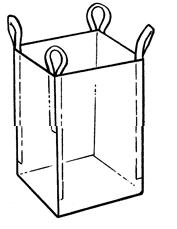 Мягкий контейнер 95х95х130 без вкладыша, 4 стропы