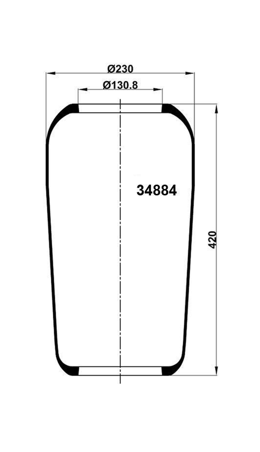 Пневмобаллон 884N 1F20B2
