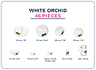 Столовый сервиз Luminarc Diwali White Orchid 46 предметов на 6 персон, фото 2