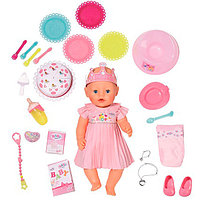 Baby born Бэби Борн Кукла Интерактивная Нарядная с тортом, 43 см Zapf Creation , фото 1