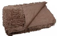 Плед-покрывало с длинным ворсом «Травка» Blumarine (Серо-коричневый)